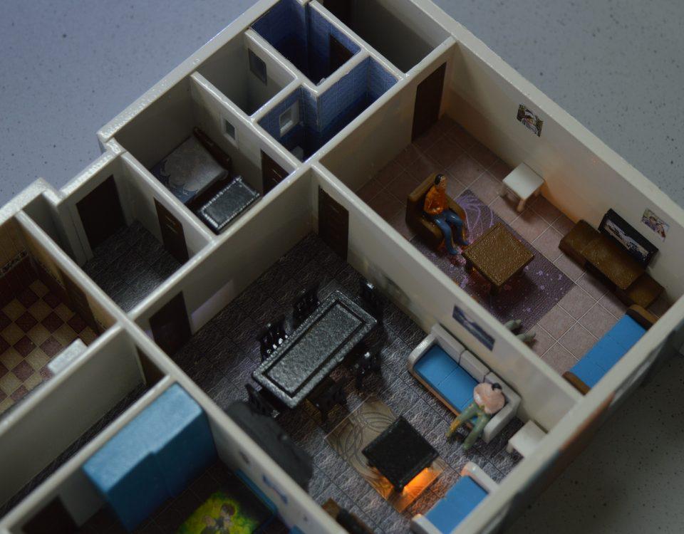 مجسم لشقة سكنيه 3